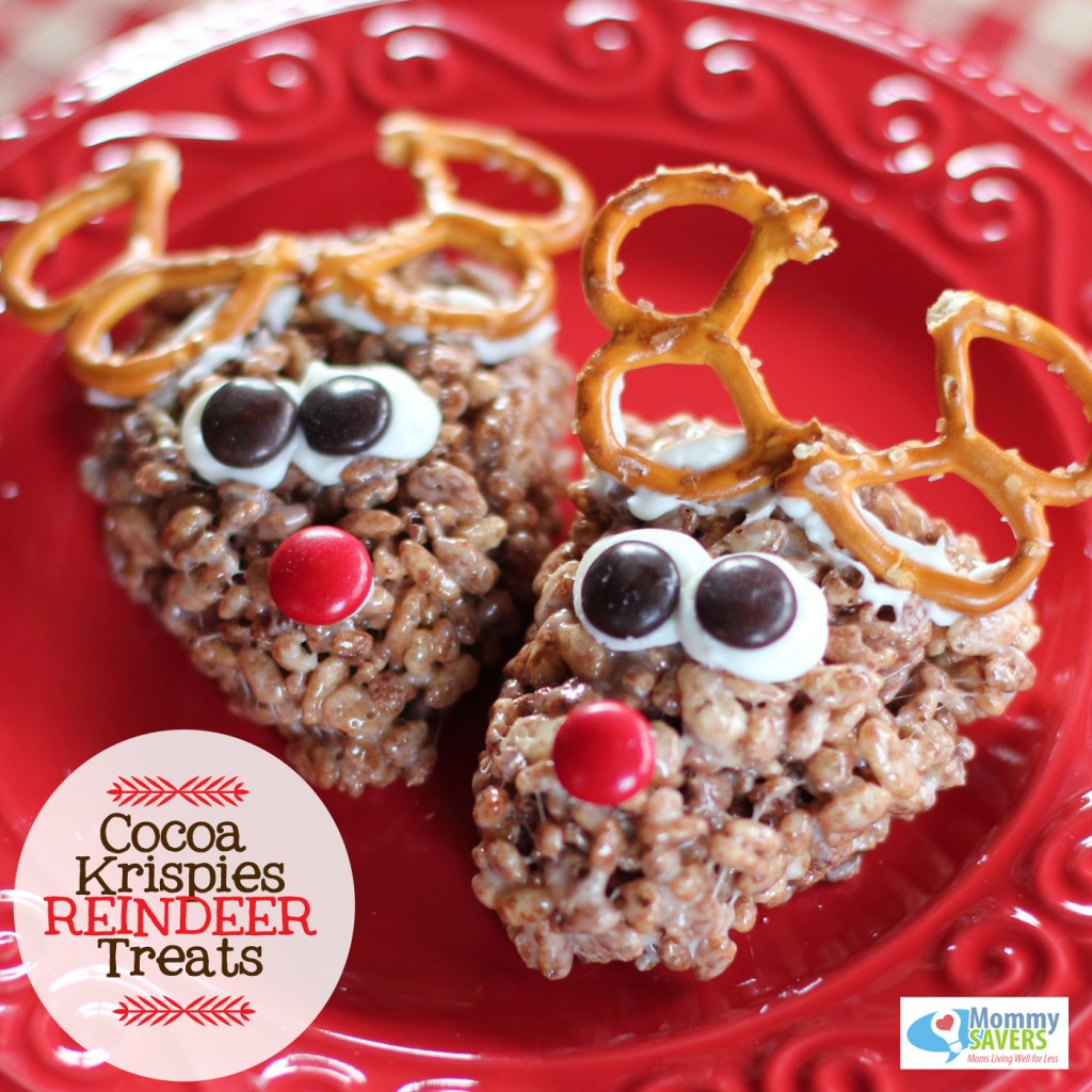 Cocoa Krispies Reindeer | Christmas Rice Krispie Treats Recipes You'll Love