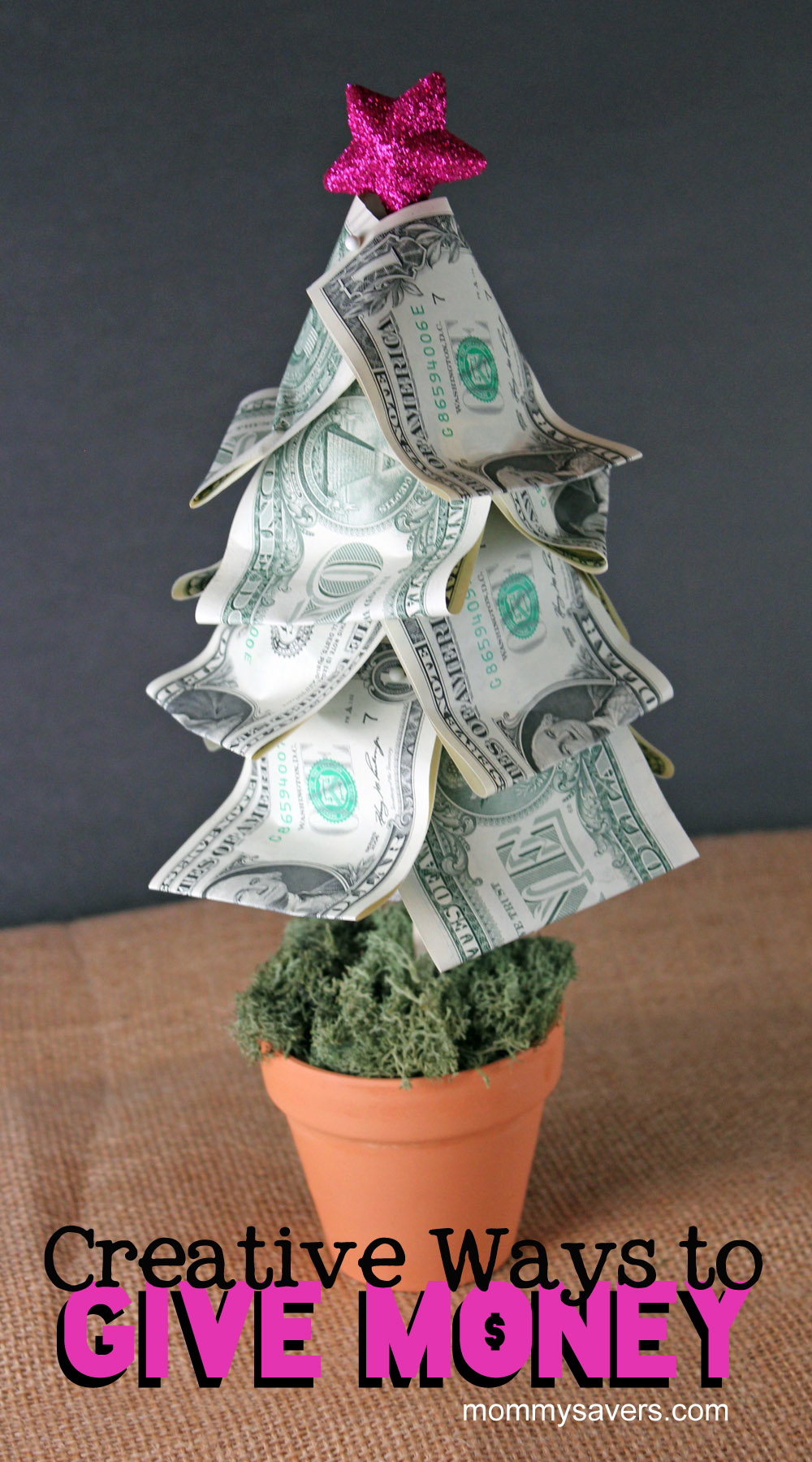 Creative ways to give money mommysavers for Creative christmas ideas