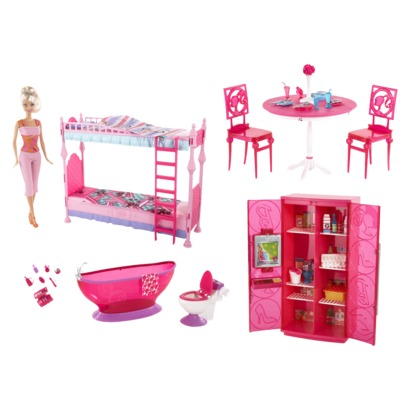 Barbie Size Dollhouse Furniture Computer Room Play Set By Huaheng .