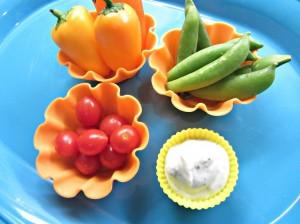 Muffin Tin Monday: Veggies & Dip Muffin Tin Snack