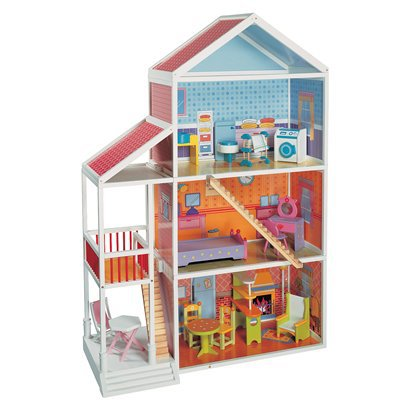 Target wooden doll house maxim wooden dollhouse mansion for Fish house sterlington