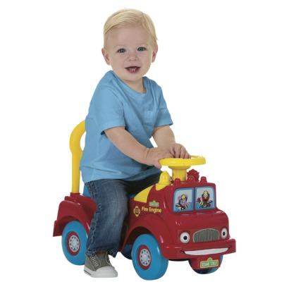 sesame street fire engine ride on target toy clearance mommysavers. Black Bedroom Furniture Sets. Home Design Ideas