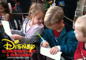 Disney Scavenger Hunt for Kids {Free Printables}