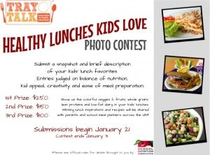 Tray Talk: Win $250 in the Healthy School Lunches Photo Contest