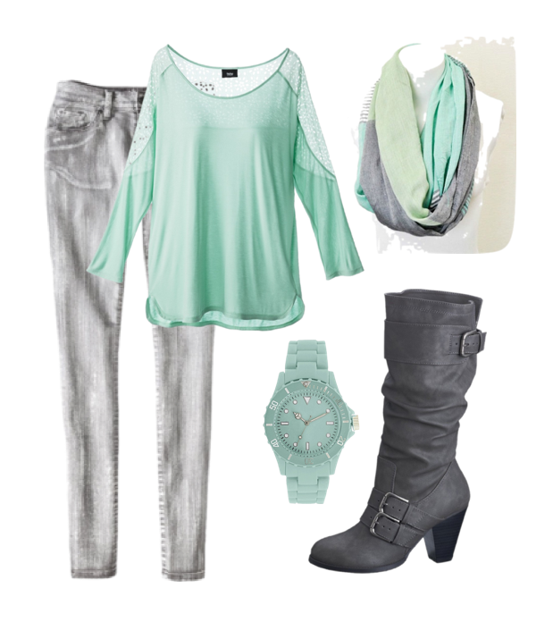 Frugal Fashionista: Mint and Gray