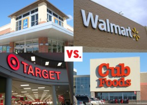 Grocery Store Price Comparison:  ALDI, Target, Walmart and Cub Foods