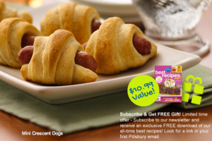 Pillsbury Newsletter Subscribers:  Receive $250/Year in Coupon Savings + FREE Cookbook Download