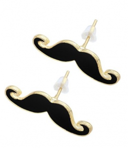 amazon jewelry deals, mustache earrings