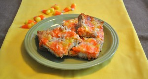 candy corn magic bars, halloween treats