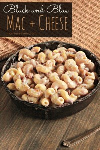 black and blue mac and cheese