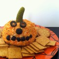halloween food: Jack-o-lantern cheese ball