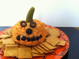 Halloween Recipe: Jack-O-Lantern Cheese Ball