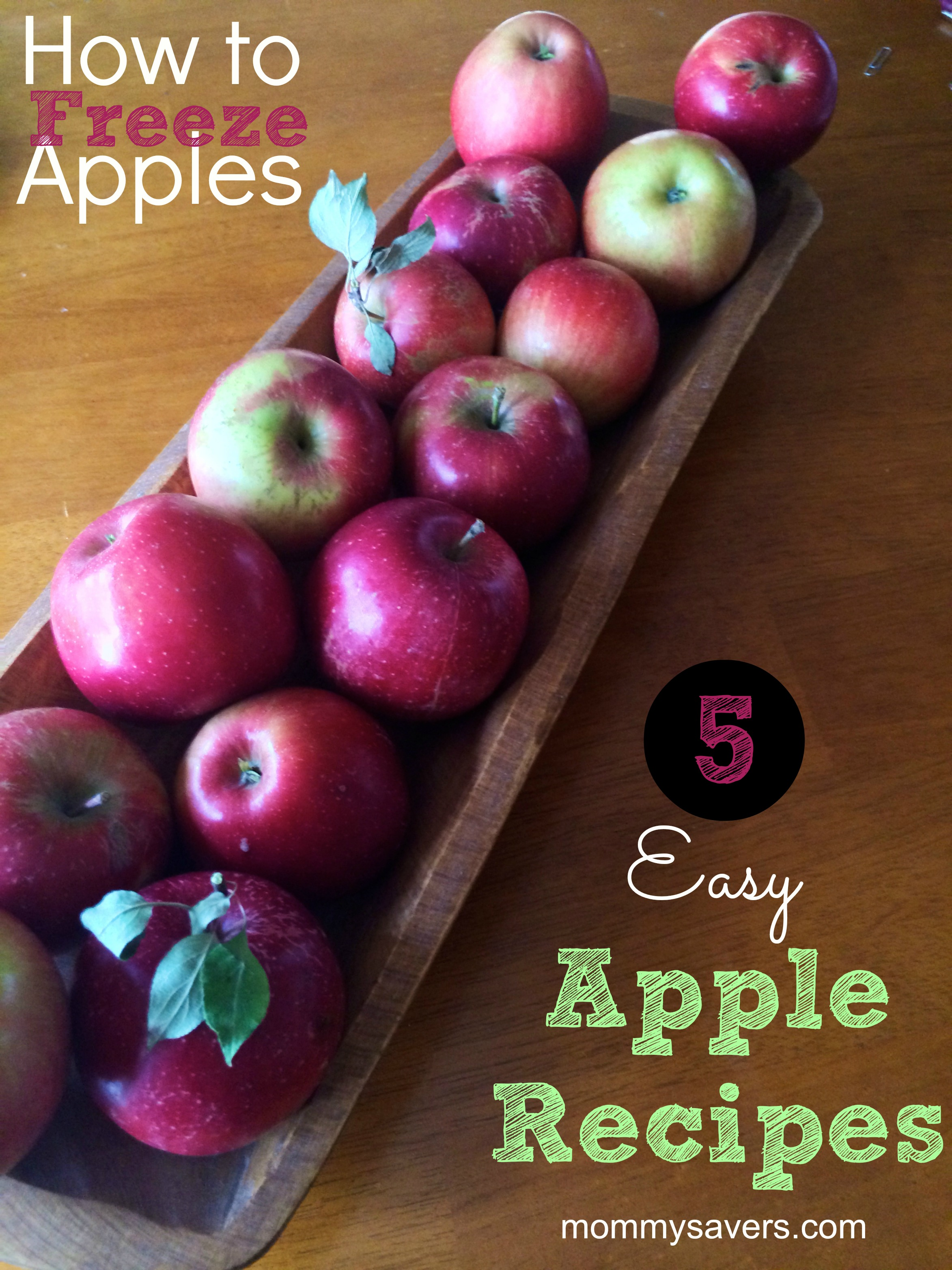 how to freeze apples and 5 easy apple recipes | mommysavers.com #apples