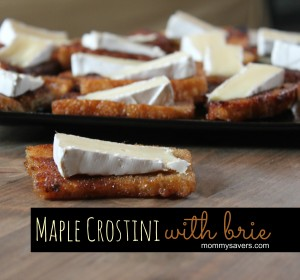 maple crostini with brie