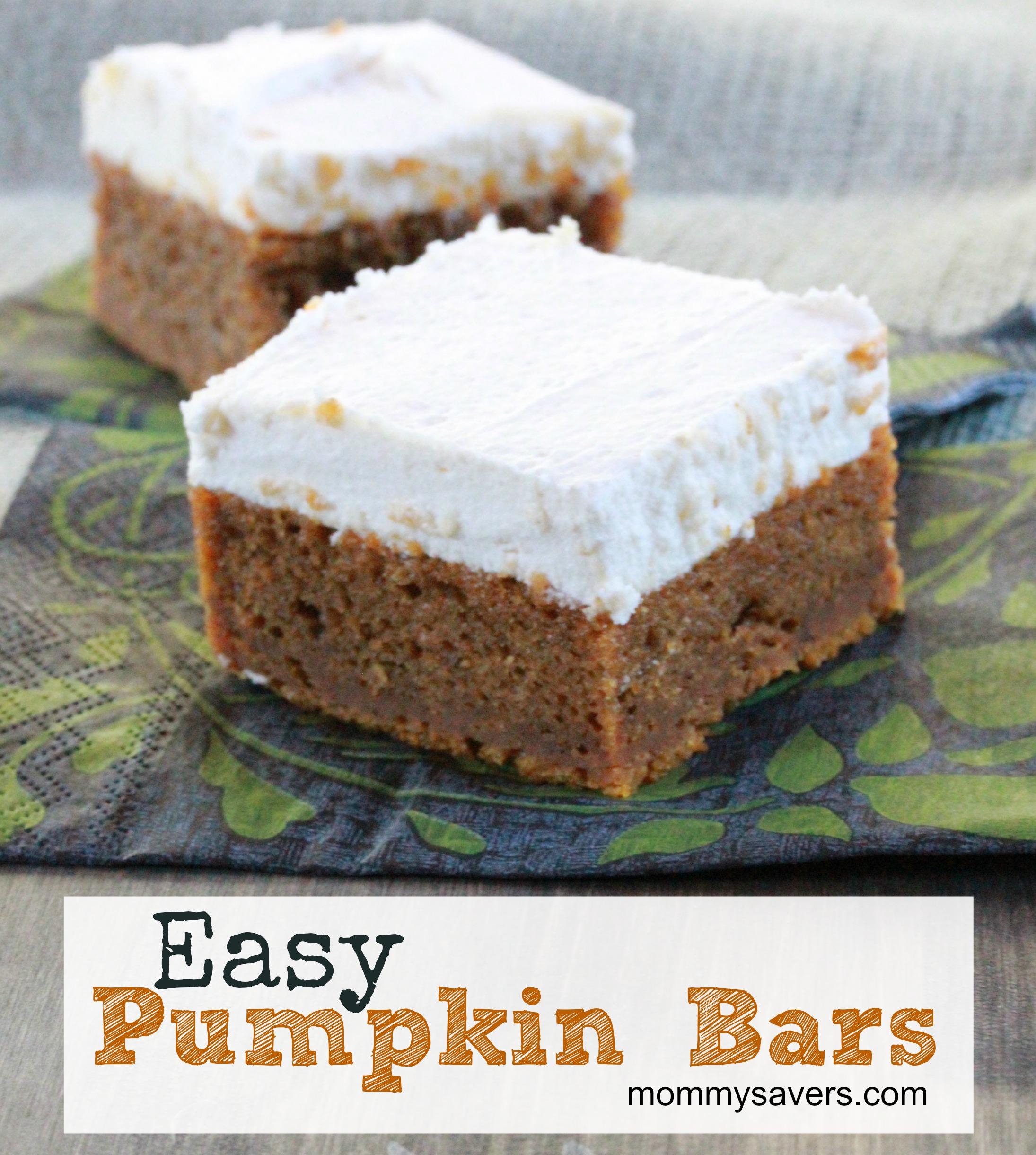 easy pumpkin recipes