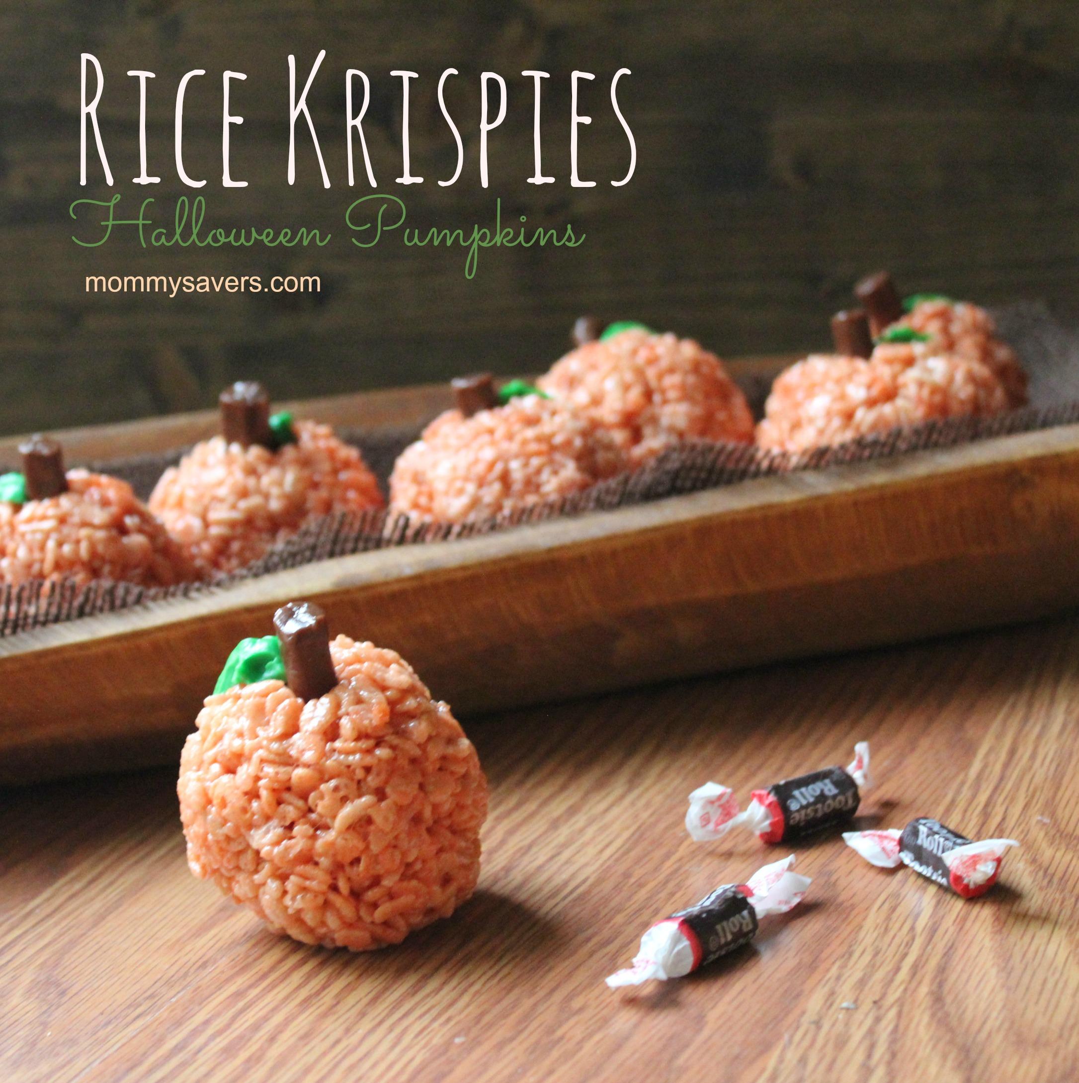 rice krispies halloween pumpkins