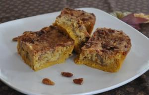 thanksgiving desserts, pumpkin crunch bars