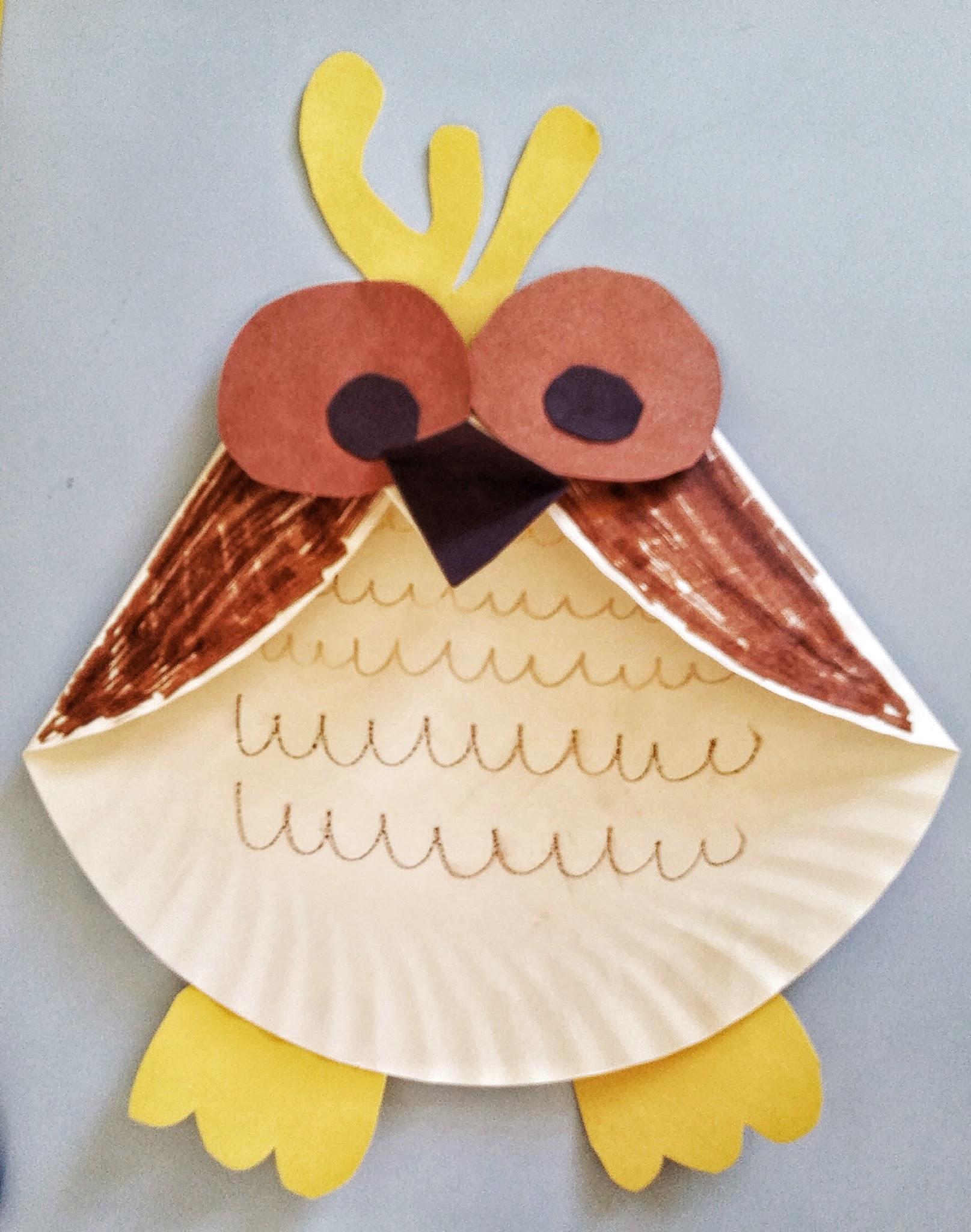 owl paper plates