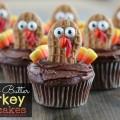 Nutter Butter Turkey Cupcakes - A fun Thanksgiving Recipe for Kids