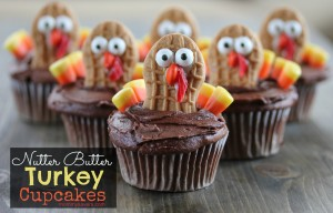 Nutter Butter Turkey Cupcakes - A fun Thanksgiving Recipe for Kids
