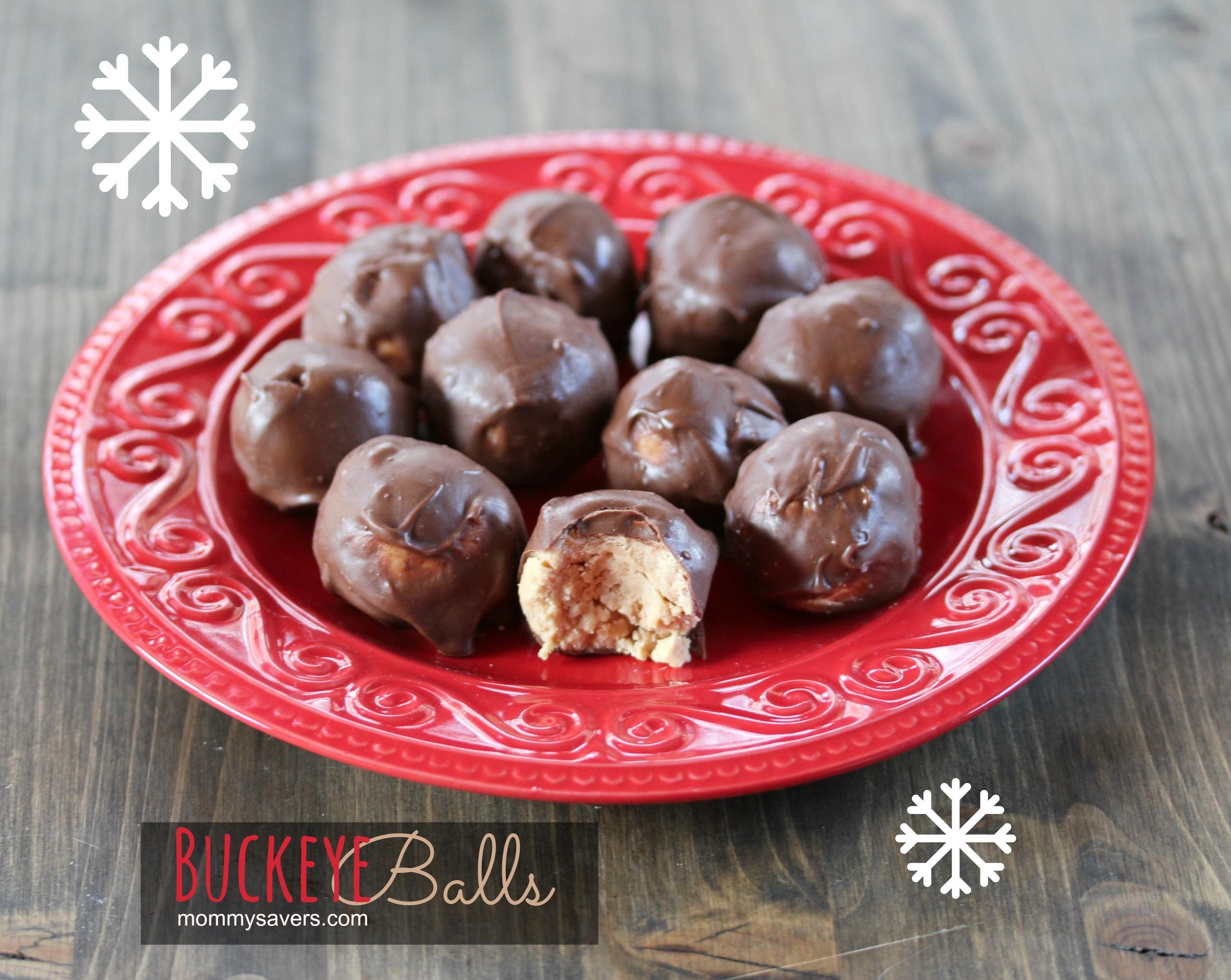 "Buckeye Balls ""Buckeyes"" Recipe:  Chocolate Peanut Butter Goodness"