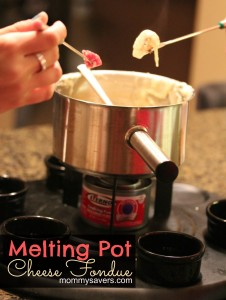 Melting Pot Cheese Fondue Recipe Copycat - YUM!
