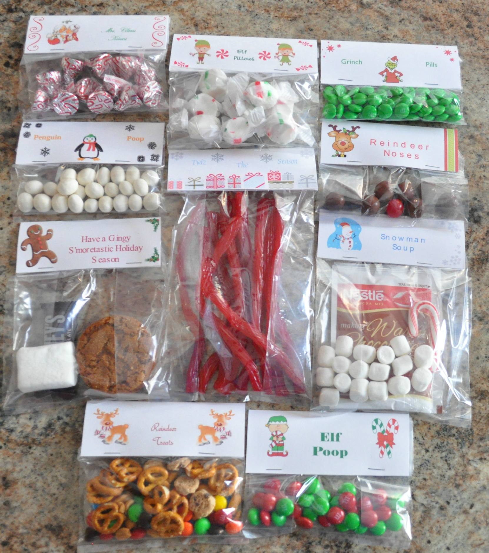 christmas treat bag ideas ten creative examples mommysavers - Christmas Candy Bags