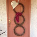homemade christmas decorations - snowman wreath