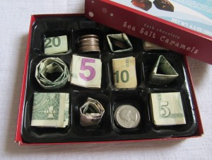 Money Gift Ideas: Money Chocolate Box