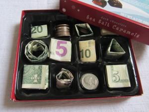 Money Gift Ideas: Money Chocolate Box