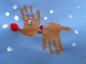 Fun Activities for Kids: Christmas Handprint Reindeer