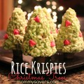 rice krispies christmas trees