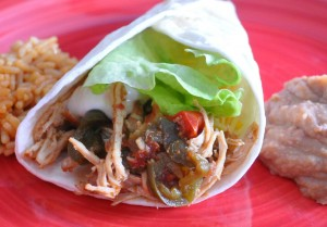 crock pot freezer meals, chicken fajitas