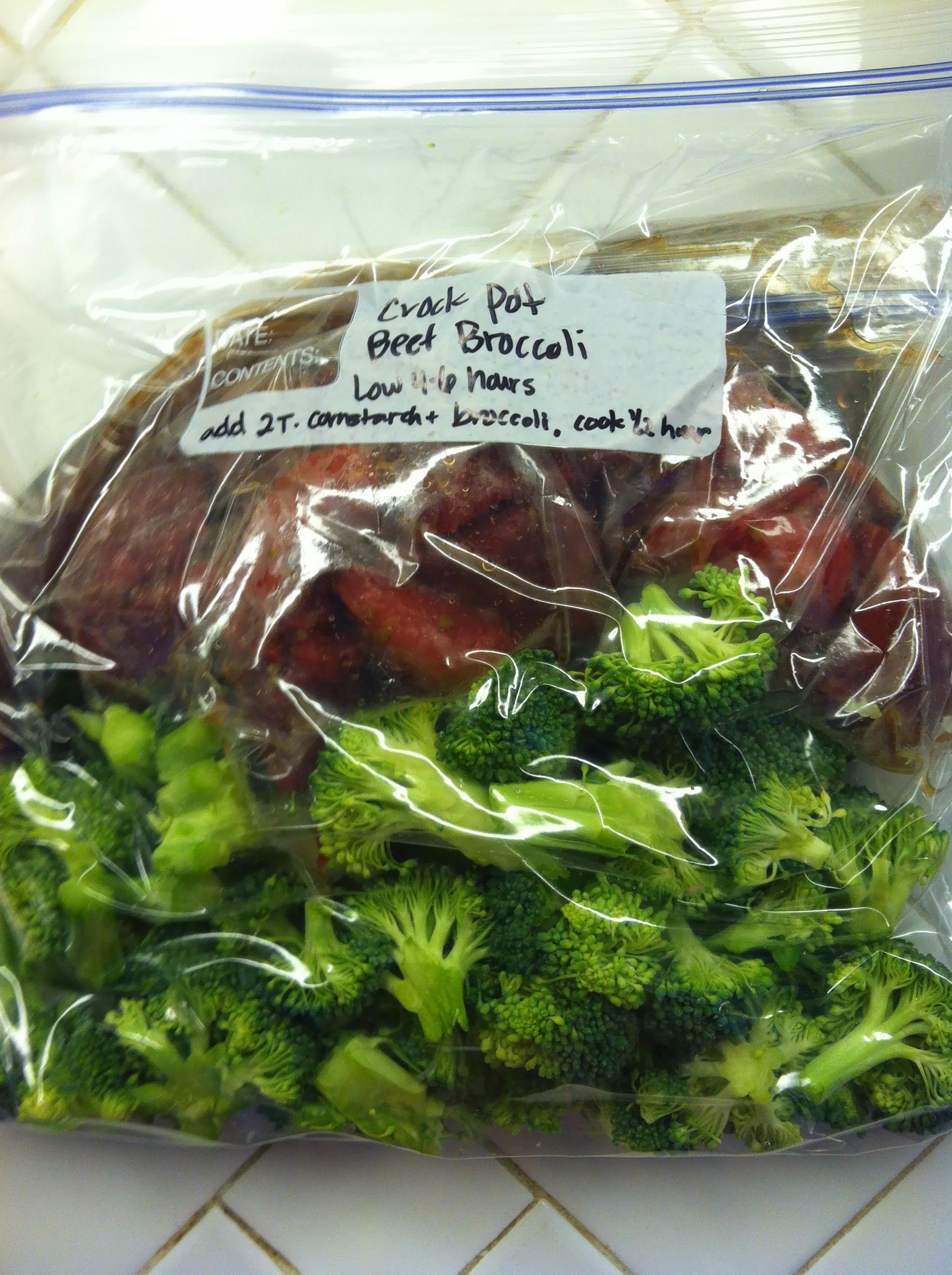 Crock Pot Freezer Meals: Chinese Beef and Broccoli