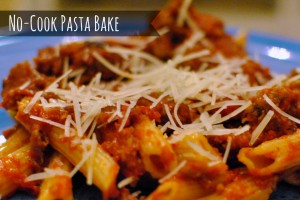 no cook pasta bake