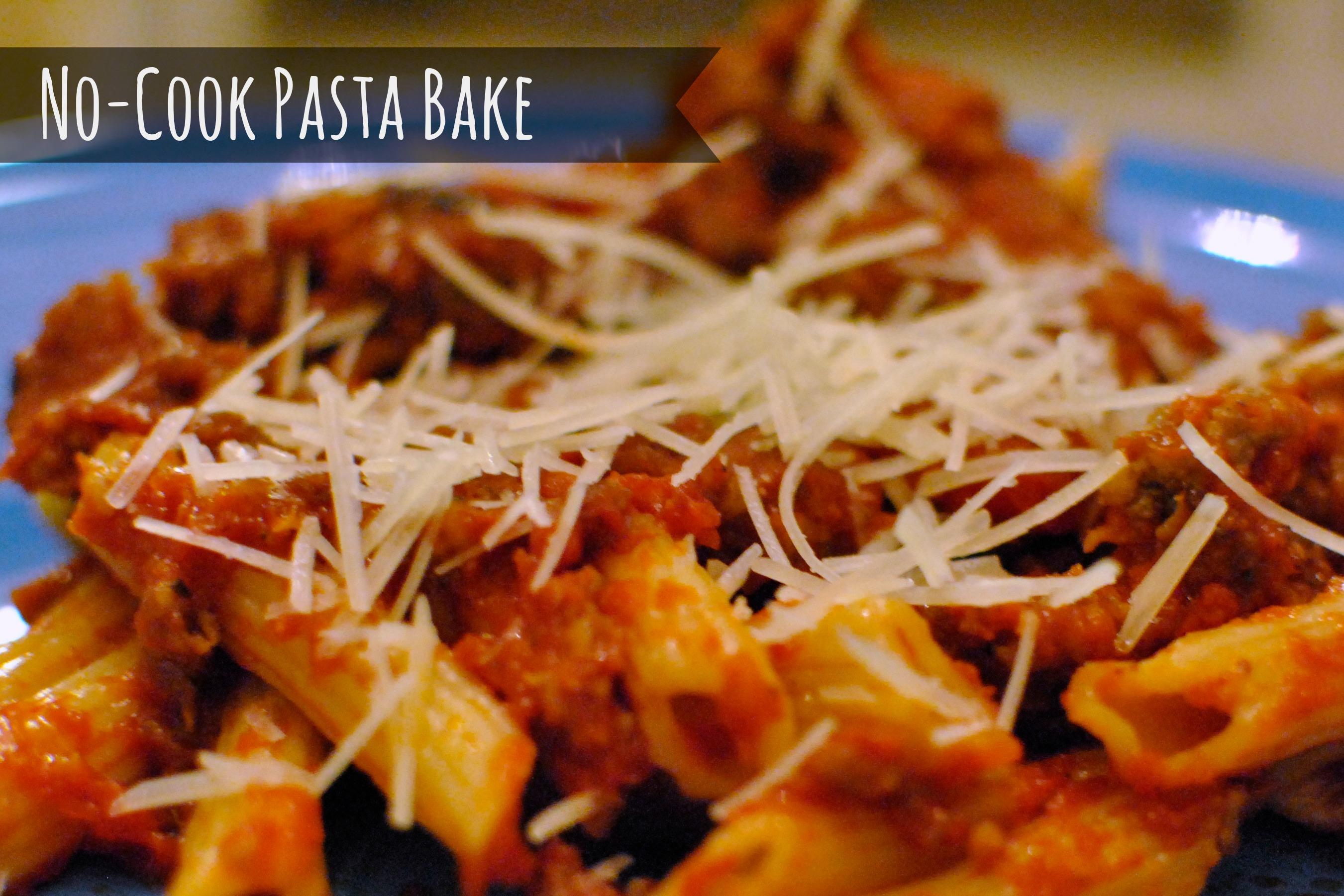 no cook pasta bake
