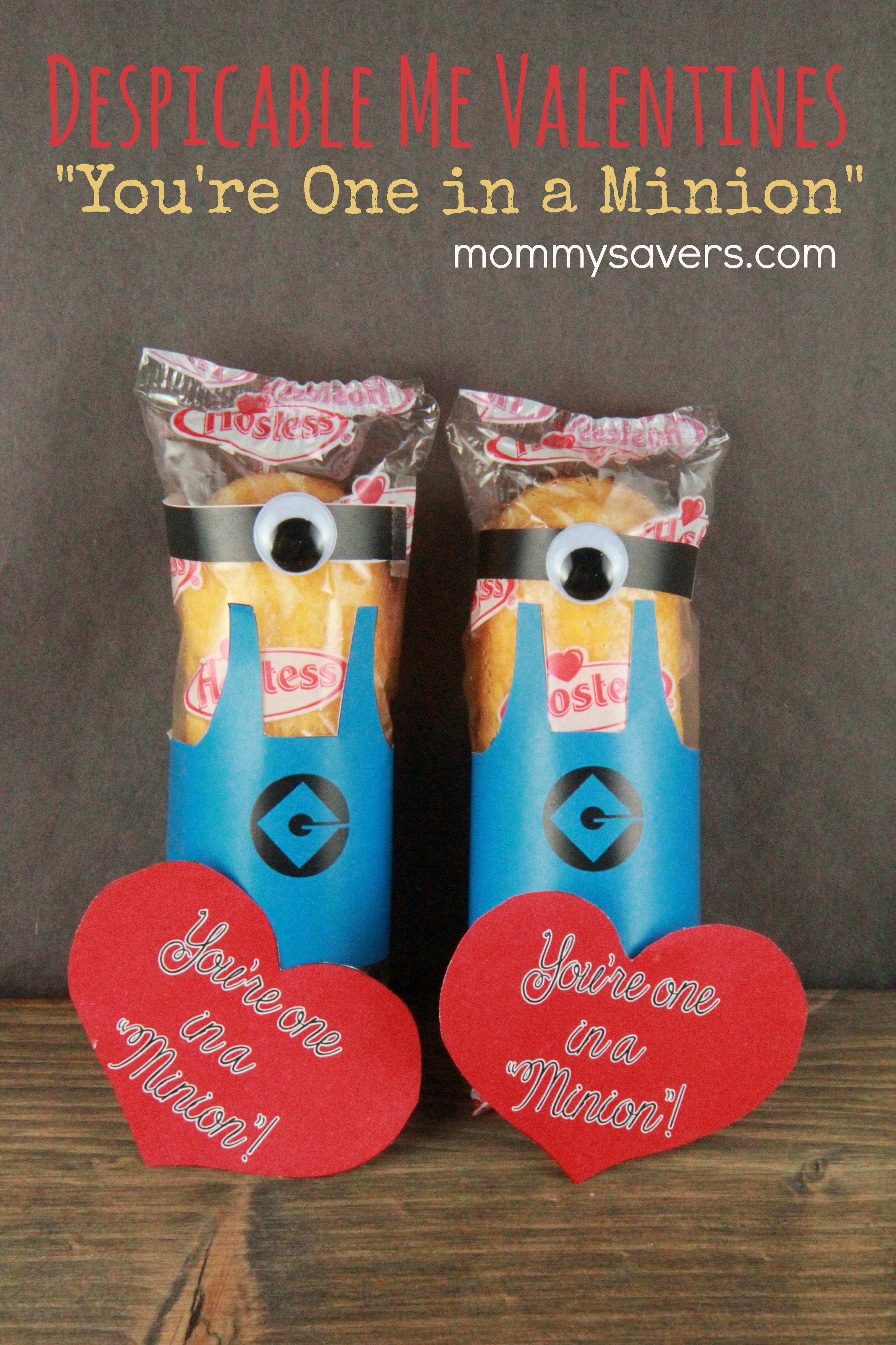 Free Printable: Minion Valentine from Despicable Me