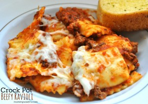 Crock Pot Freezer Meals: Beefy Ravioli