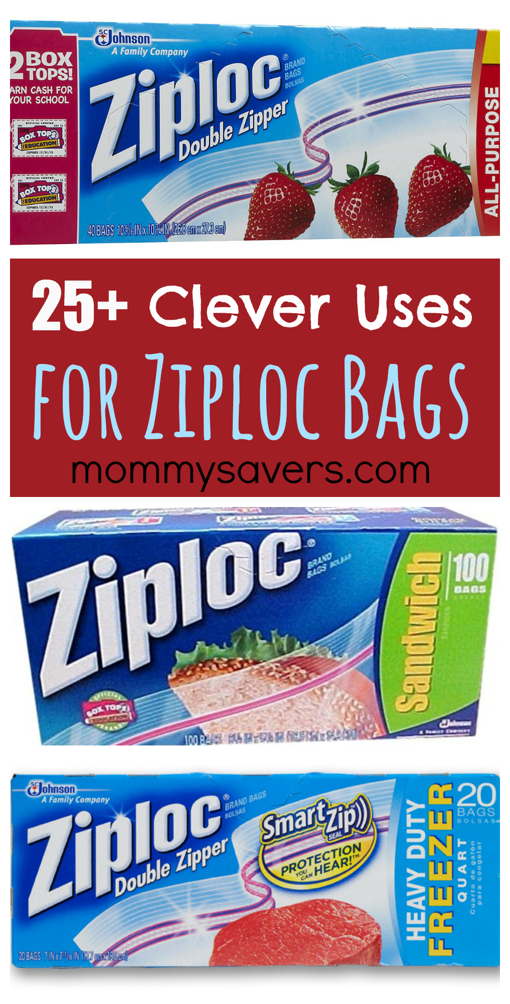 25 clever uses for ziploc bags | mommysavers