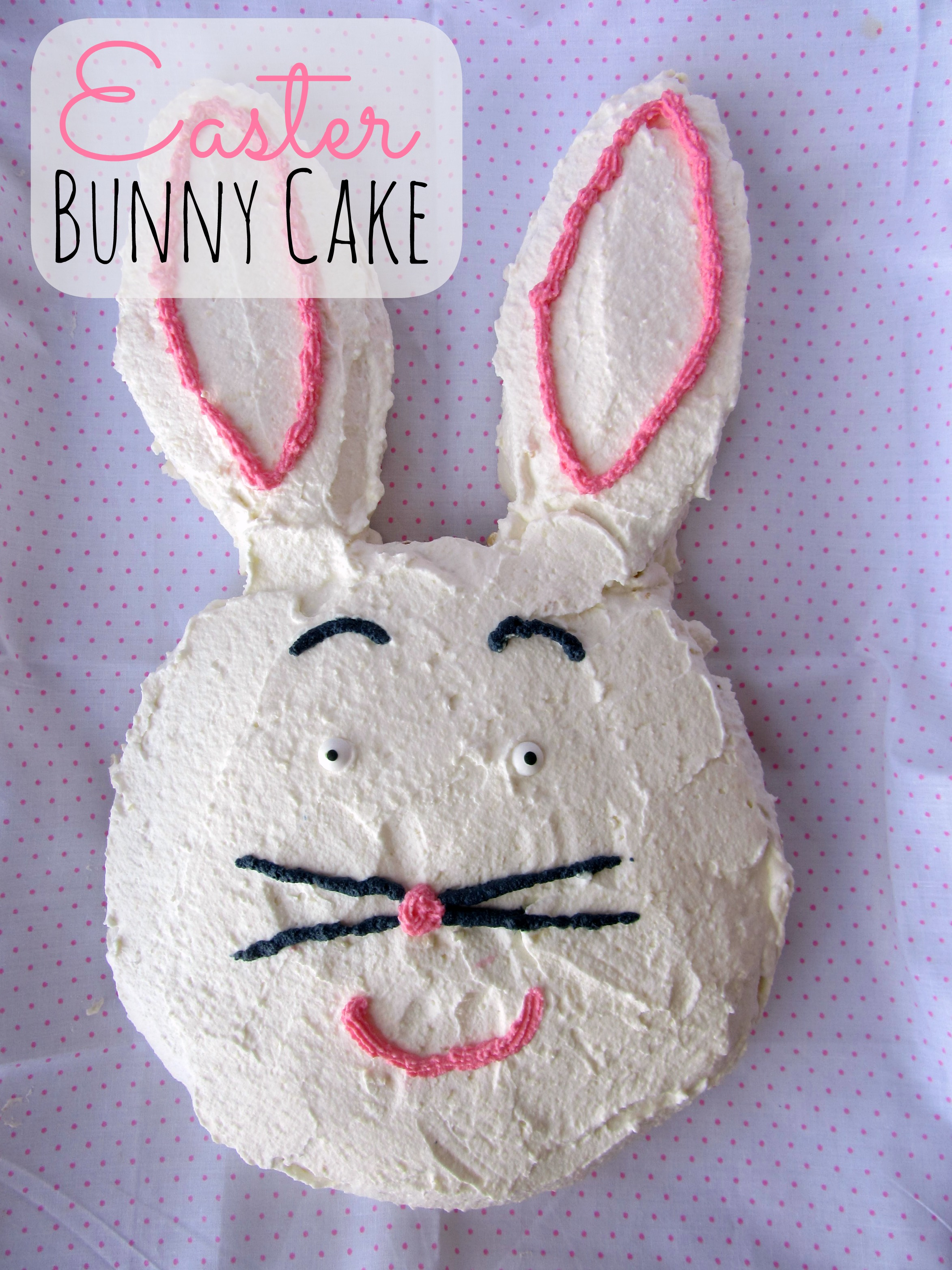 Easy Bunny Cake Recipe — Dishmaps