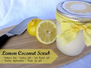 Lemon Coconut Scrub {DIY Gift Idea}