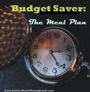 Budget Saver Meal Plan