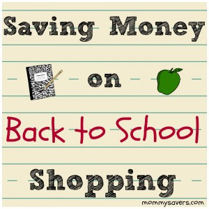 Saving Money on Back to School Shopping