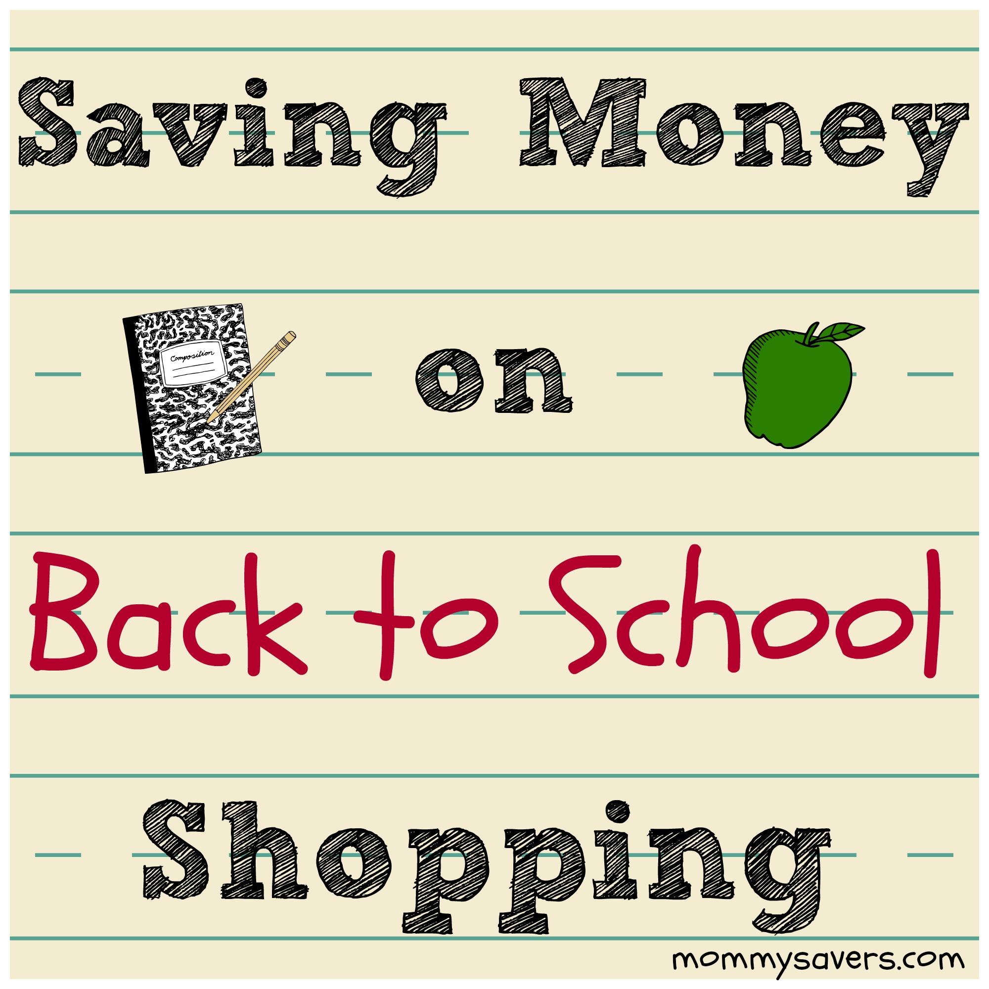 saving money on back to school shopping