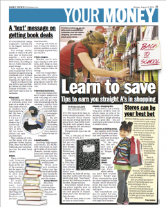 Back to School Tips from Mommysavers/New York Daily News