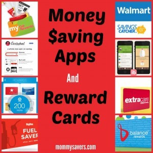 Money Saving Apps and Reward Cards