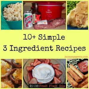 Simple 3 Ingredient Recipes