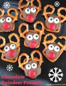 Chocolate Reindeer Pretzels