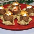 tex-mex meatball nacho bites