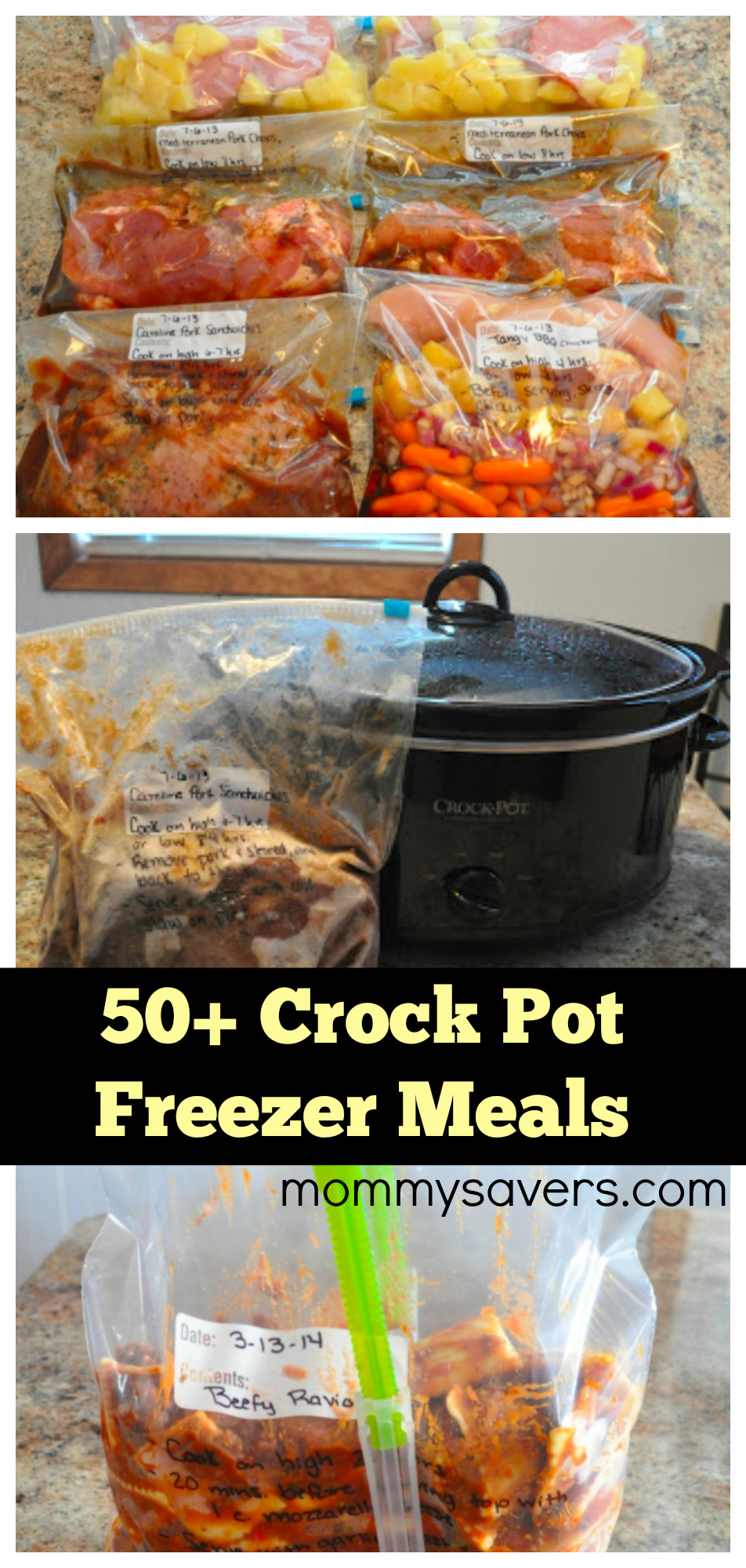 50+ Crock Pot Freezer Meals